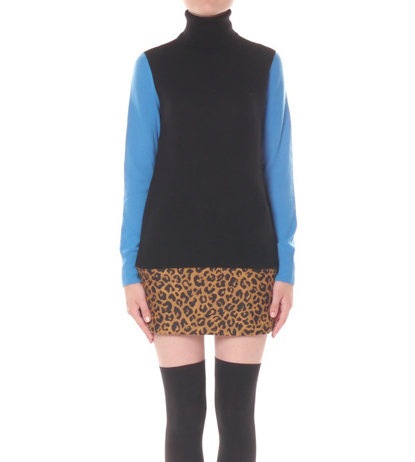 Equipment Ario Turtleneck Colorblock Sweater