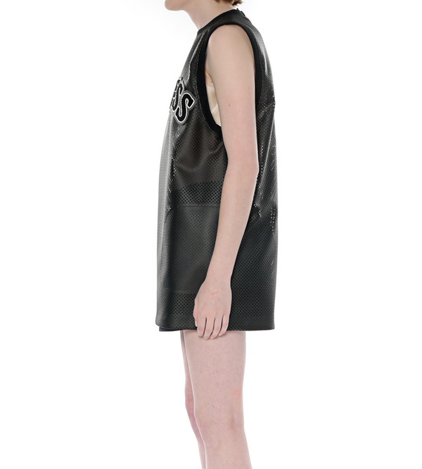 "G.V.G.V. Punched Leather ""Clueless"" Tank Dress"