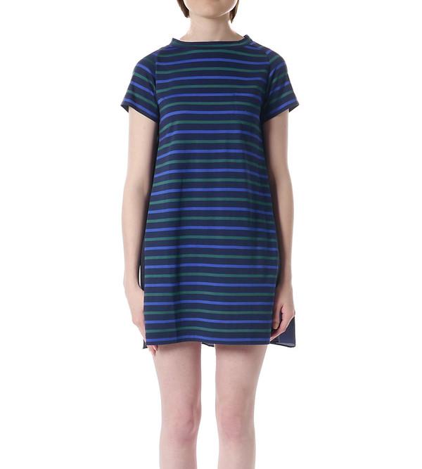 Sacai Luck Striped T-shirt Dress