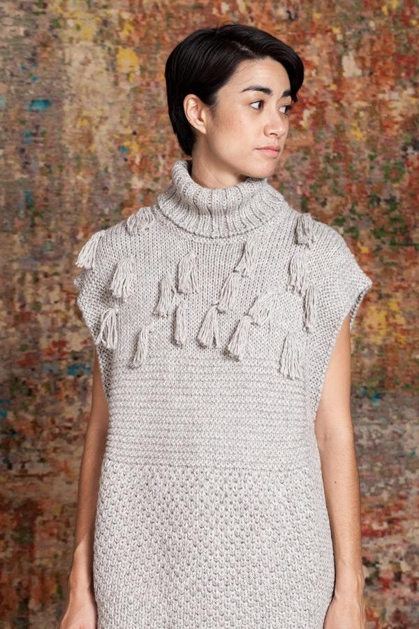 Apiece Apart Ines Fringe Vest | grey melange