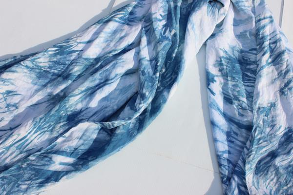 Miranda Bennett Linen Indigo Kanako Home Textile