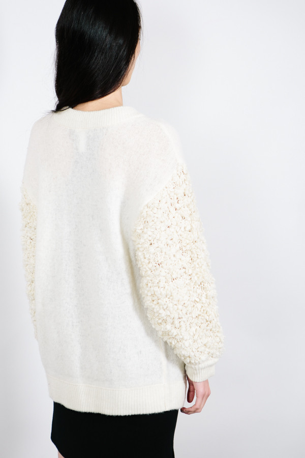 SHAE NY Boucle Sweater Bomber