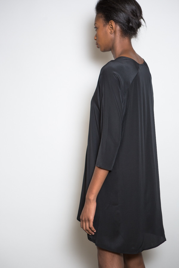 Ali Golden Silk Raglan Dress