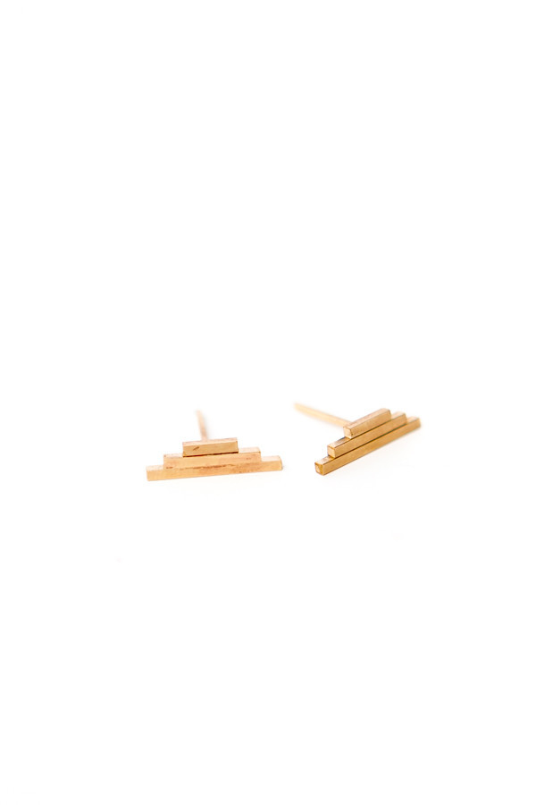 By Boe Triple Bar Thick Studs