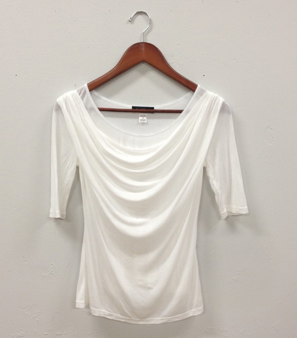 Stewart and Brown Drape 1/2 Sleeve Top