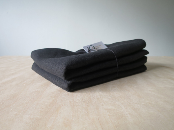 Lissu Linen Pillowcase Set - Black