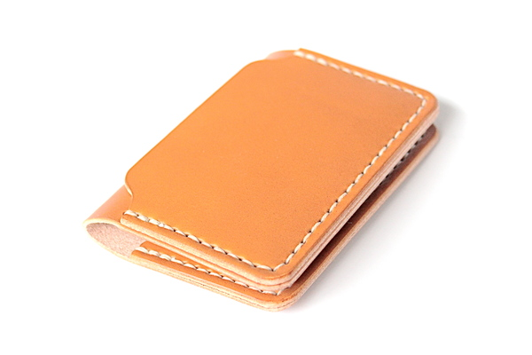 DW Leatherworks Folded Card Wallet - Tan