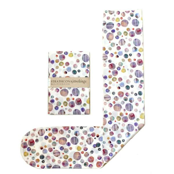 Strathcona Stockings Watercolor Polkadot Socks