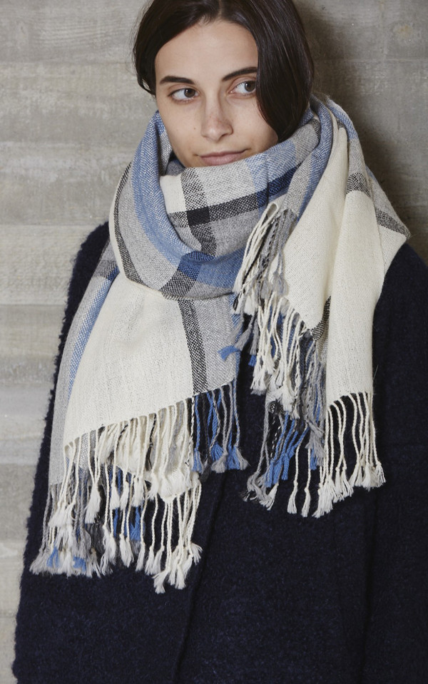 RACHEL COMEY LARGE PLAID SCARF
