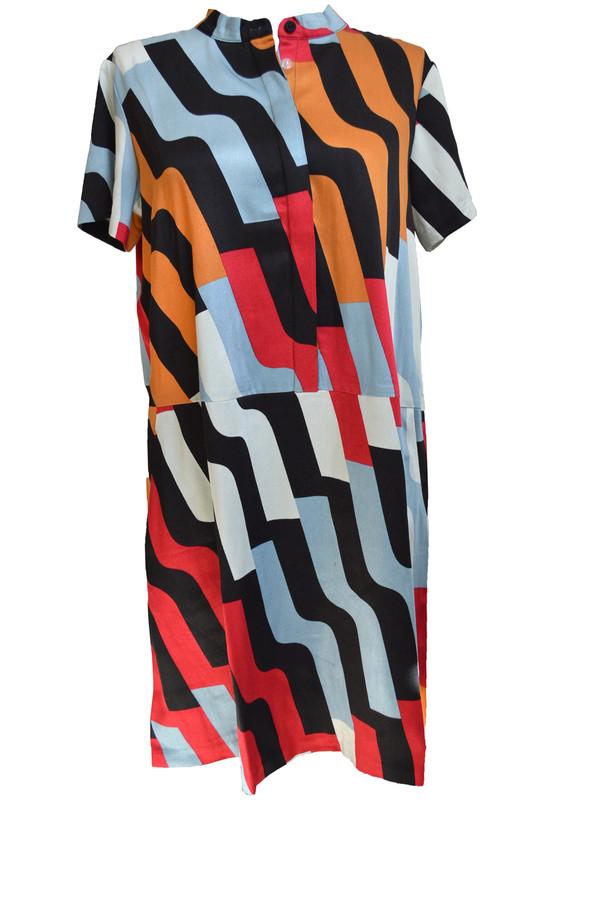 Dusen Dusen Oversize Tee Dress in Pivot Print