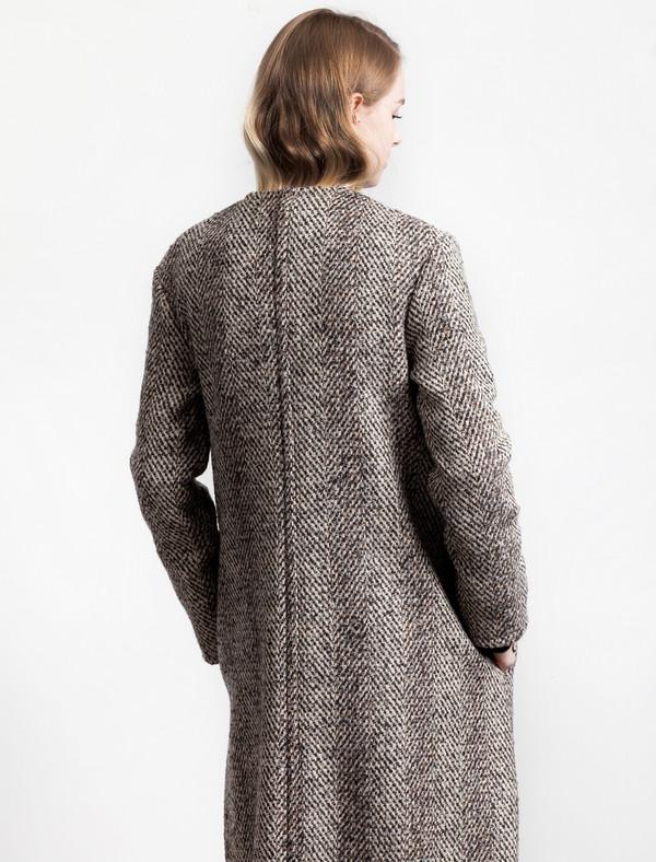 Lemaire Womens Wrapover Coat Owl