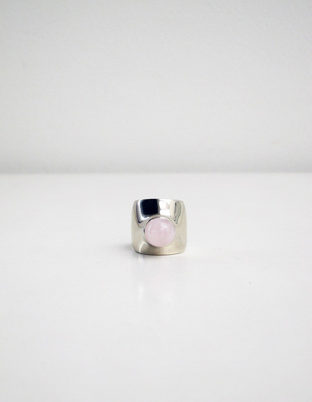 Leyron Ring, White Bronze/Rose Quartz