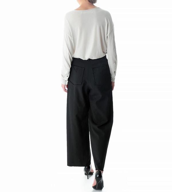G.V.G.V. Wool Gabardine Wide Leg Trousers
