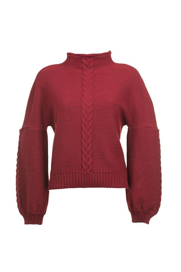 Livlov Dark Red Knitted Sweater
