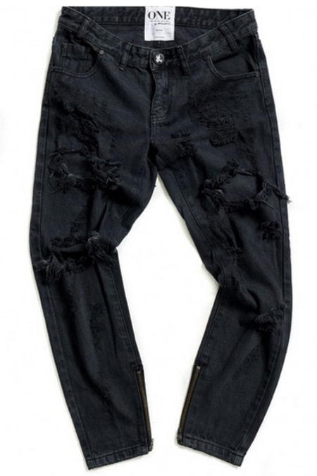 ONE TEASPOON Freebird Jeans- Fox Black