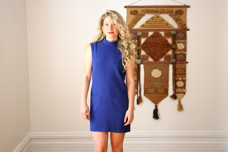 Valerie Dumaine Viveca Short Dress | Royal Blue