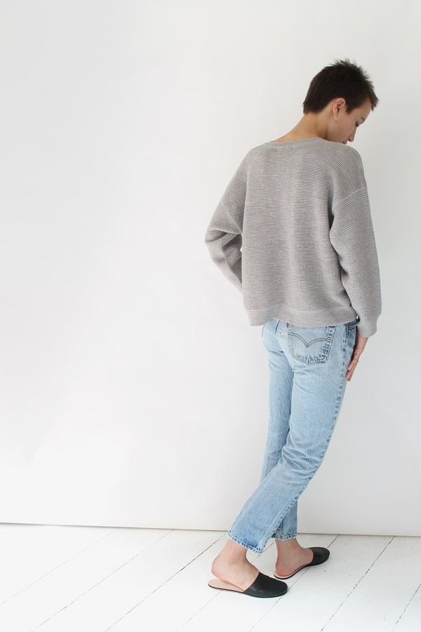 Micaela Greg ripple sweater | dove grey