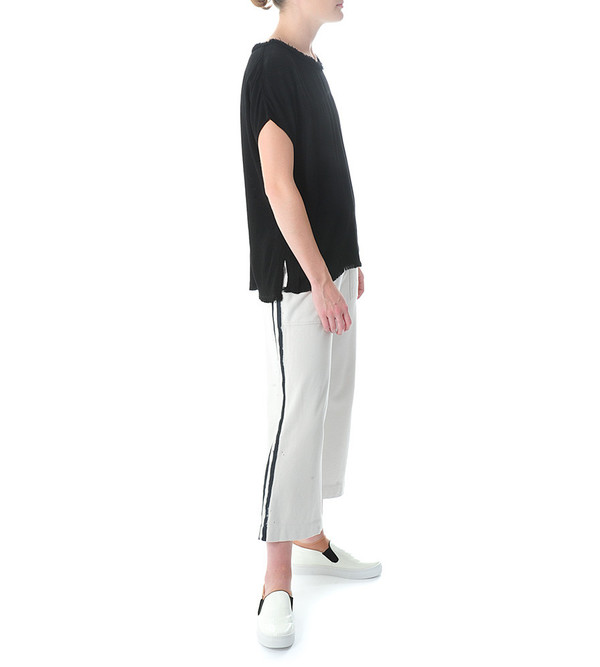Raquel Allegra Fleece Cropped Painted Pant