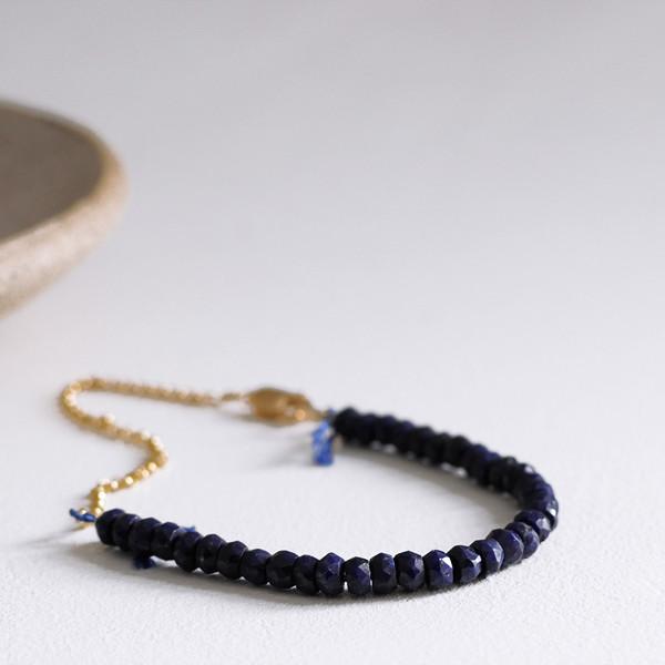 Clementine Blue Sapphire Beaded Bracelet