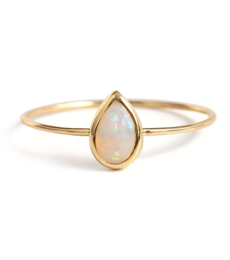 Catbird Opal Teardrop Ring