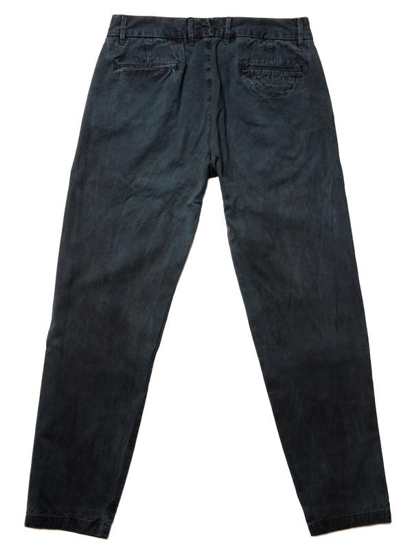 Olderbrother Gabardine Trouser | Black Indigo