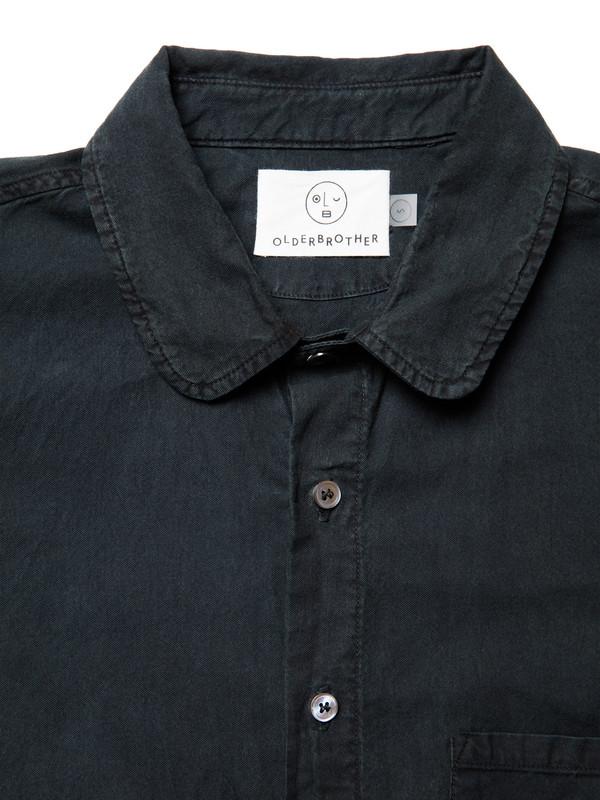 Olderbrother Japanese Oxford Shirt | Black Indigo