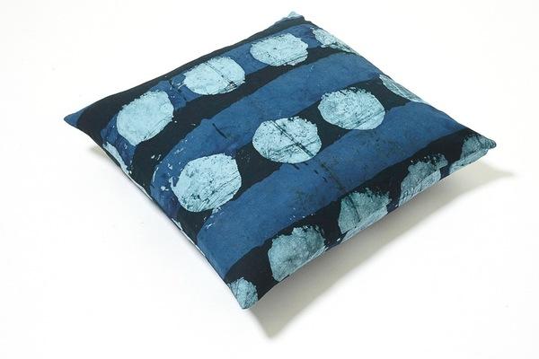 Osei Duro Batik Pillow in Blue Dot Dash
