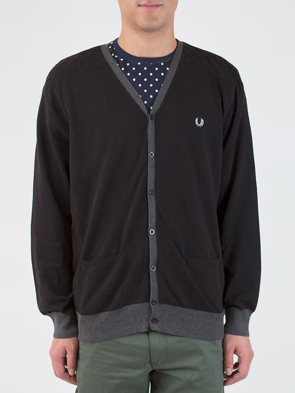 Men's Fred Perry Chequerboard Cardigan