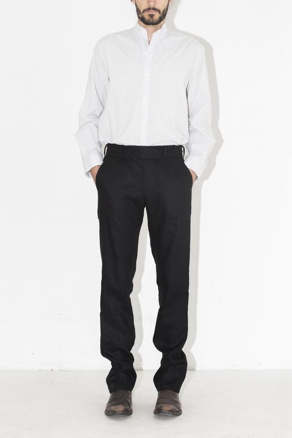 Men's Assembly New York Black Linen Elastic Pant
