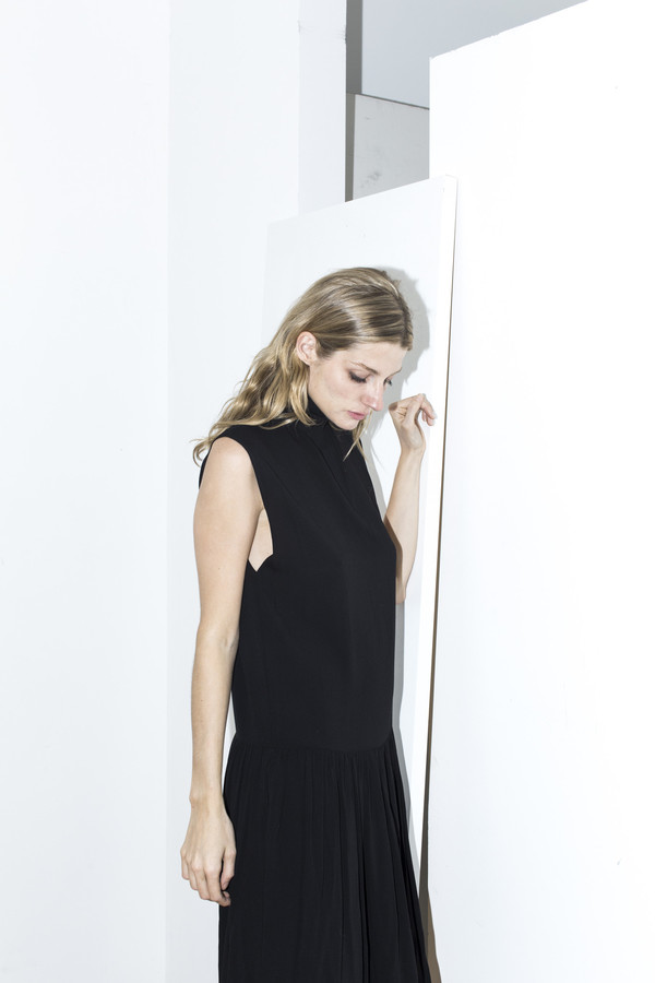 Assembly New York Black Pleat Dress