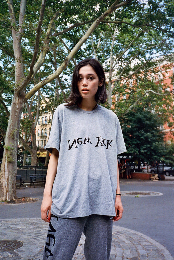 Unisex Assembly New York Grey NY Logo Tee