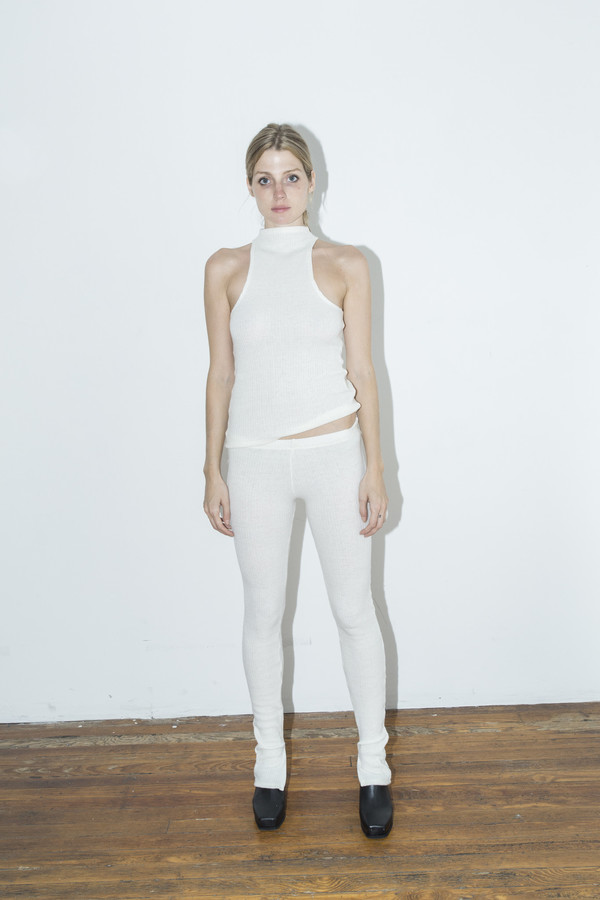Assembly New York Off White Ribbed Tank