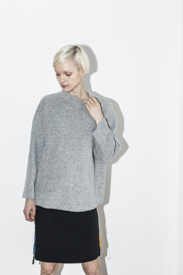 C.F. Goldman Grey Oversized Sweater