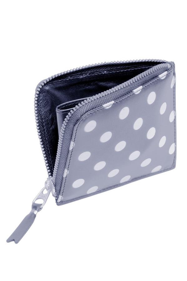 CDG Wallet Polka Dots Printed (Grey SA3100PD)