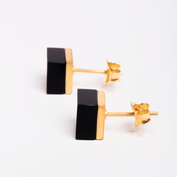Ming Yu Wang Cubic Earring Onyx