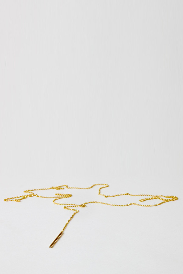 Natasha Wheat Gold Lavalier Necklace