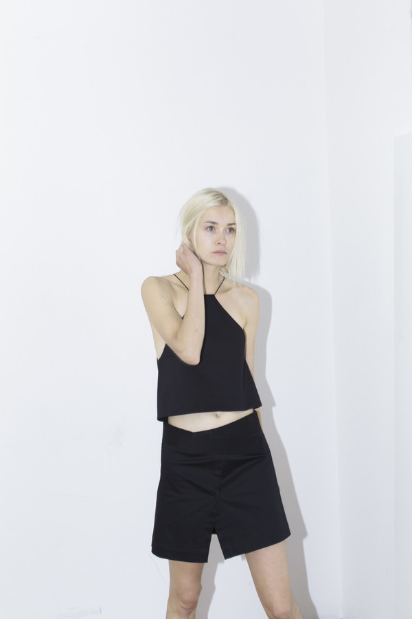 Index Black Halter Top