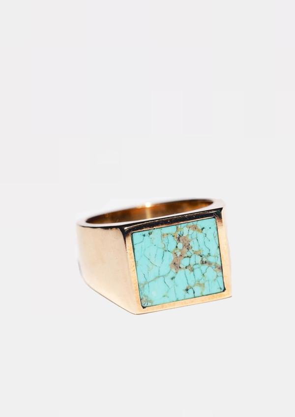 Legier & Livaudais LLI Kingman Turquoise Brass Ring