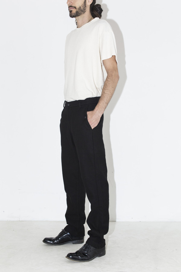 Men's Neuba Black Twill Trouser