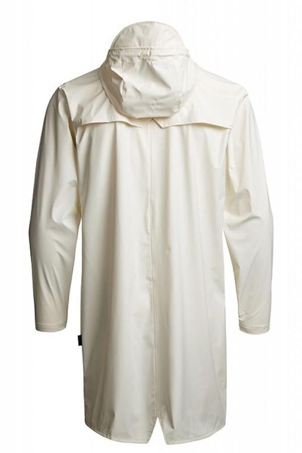 Unisex Rains White Hooded Rain Coat