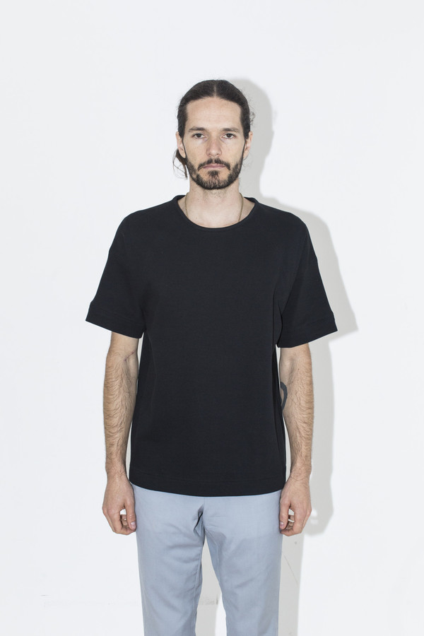 Men's Robert Geller Black Court Crew