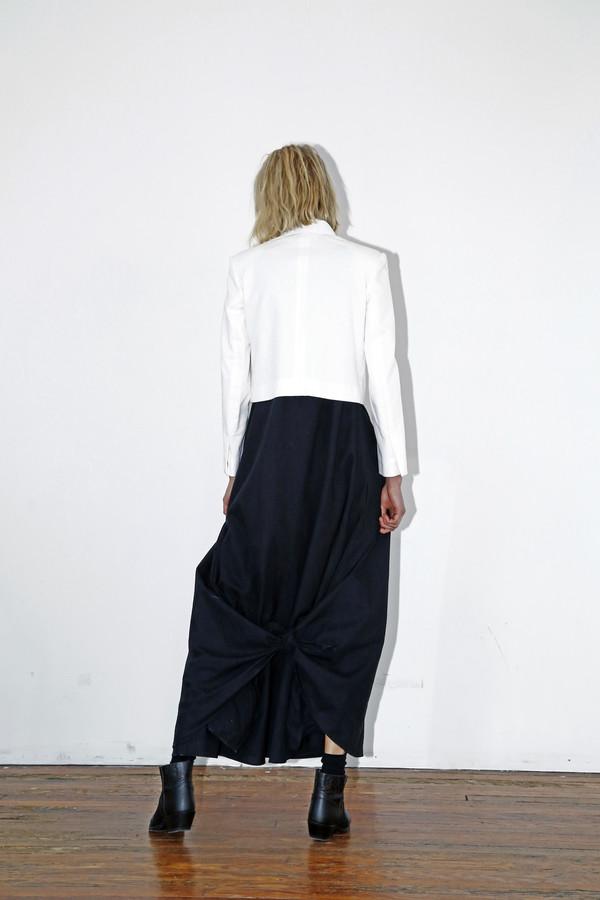 White Denim Crop Blazer