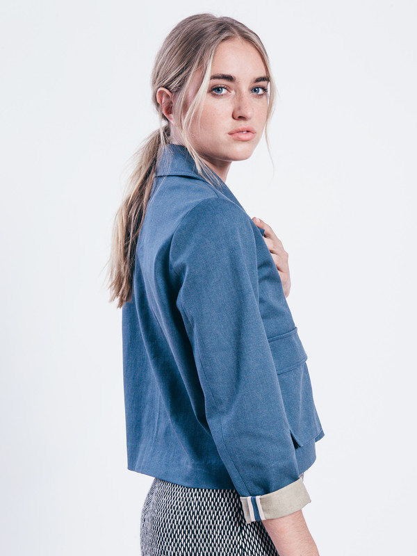 NIKKI CHASIN NOX DENIM PULLOVER TOP