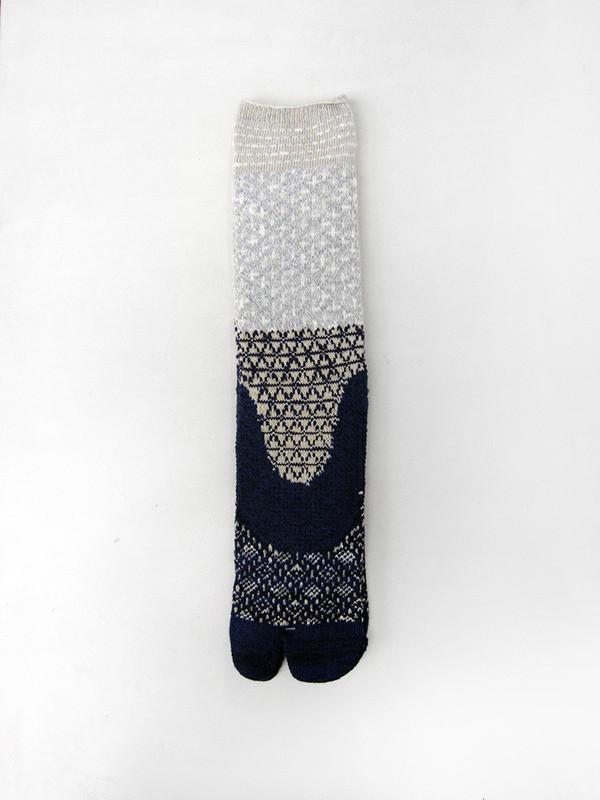Sashiko Tabi Socks, Navy