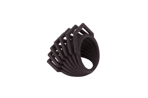 EXCLUSIVE: Shahla Karimi Honey Rotation Ring | Black