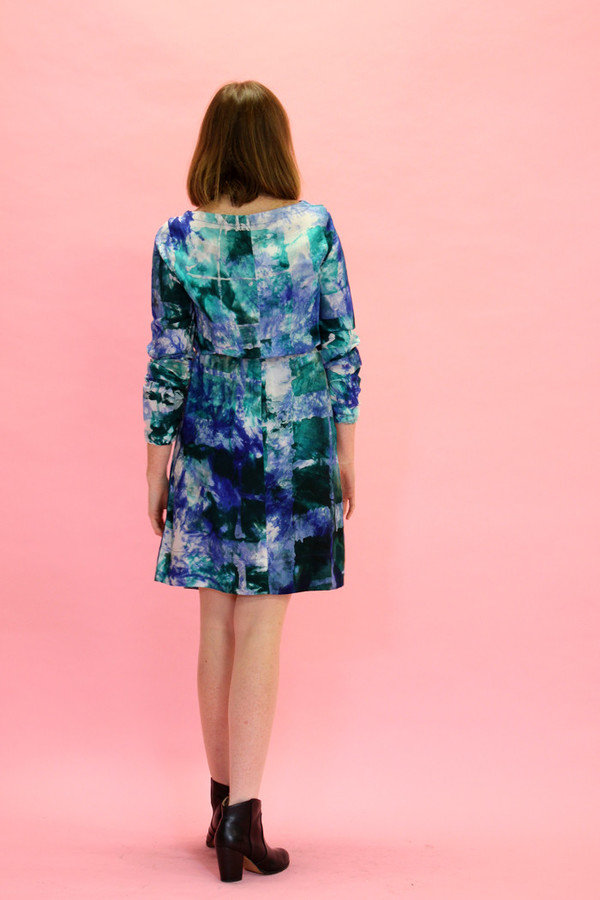 Osei Duro Aburi Dress | Green + Blue