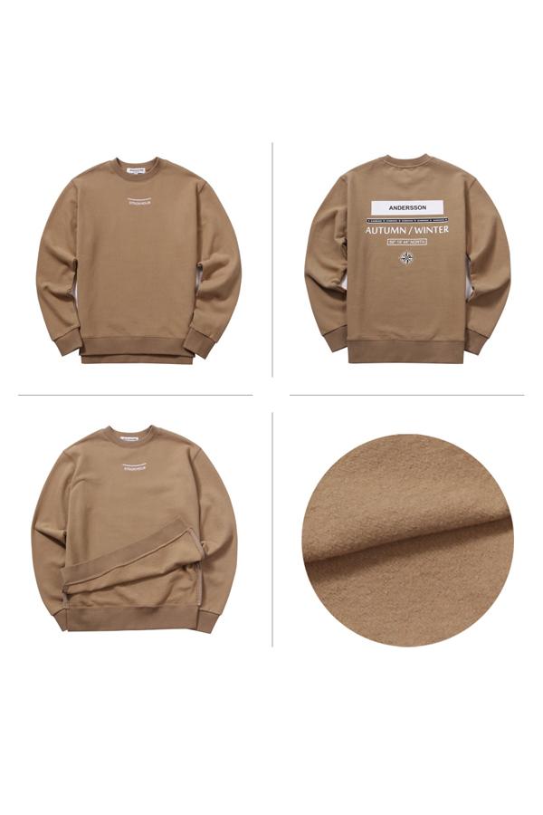 ANDERSSON BELL Unisex City Coordinates Sweatshirt- Beige