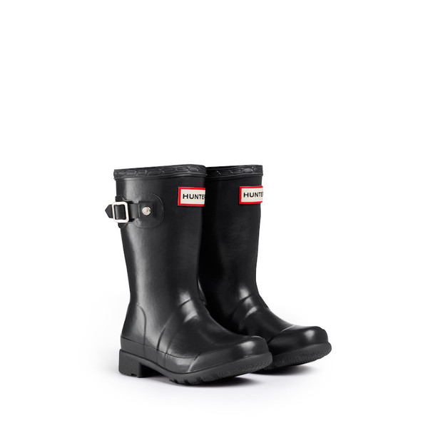 Hunter Original Packable Tour Kids Rain Boots - Black