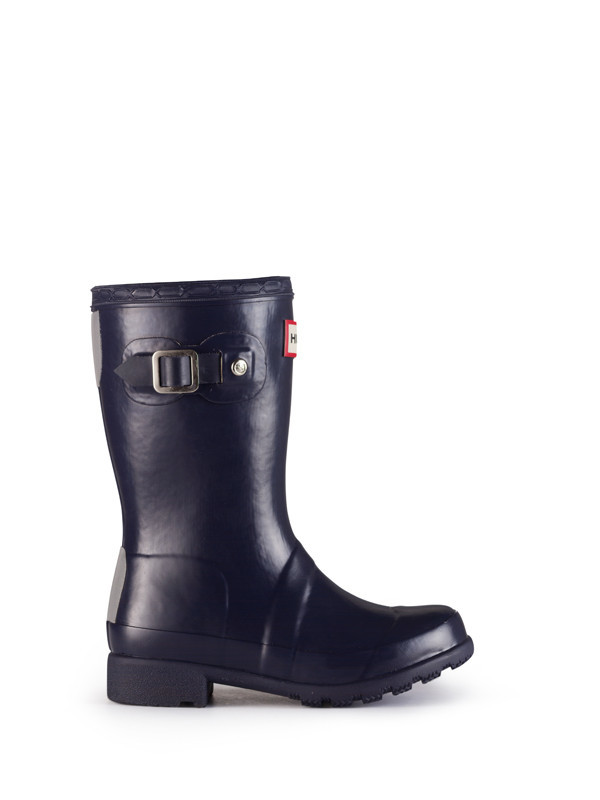 Hunter Original Packable Tour Kids Rain Boots - Navy