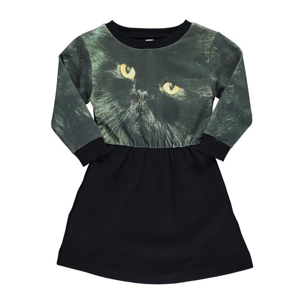 Popupshop Loose Dress - Black Cat